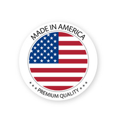 Modern made in america label vector