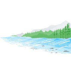 Mountain River vector image