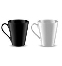 mug mockup black and white cup template isolated vector image