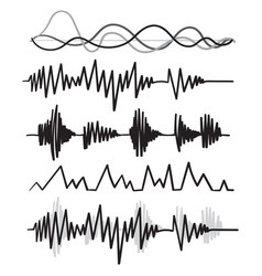 Music audio audio frequency handdrawn doodle style vector