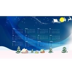 New year festive calendar for 2016 vector image