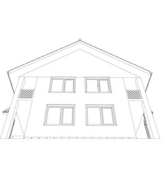Outline house format vector