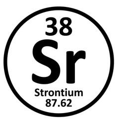 Periodic table element strontium icon vector