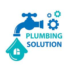 Plumbing solution symbol vector