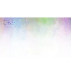Rainbow abstract watercolor background vector