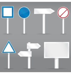 Road signs set vector