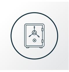 safe icon line symbol premium quality isolated vector image