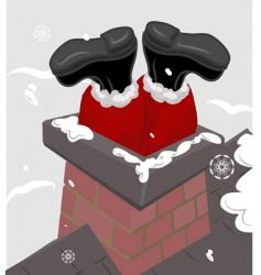 Santa chimney vector