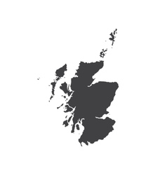 Scotland map silhouette vector