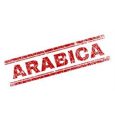 Scratched textured arabica stamp seal vector