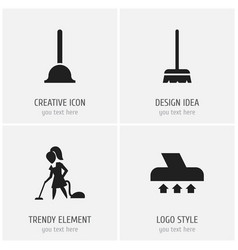 set of 4 editable hygiene icons includes symbols vector image