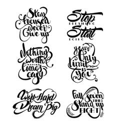 Set Of Decorative Monochrome Quotes vector