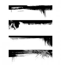 Set of grunge edges vector