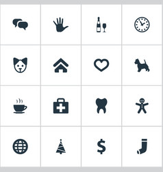 Set of simple household icons vector