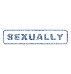 Sexually textile stamp vector