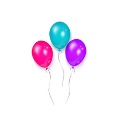 Shiny balloon birthday party decoration element vector