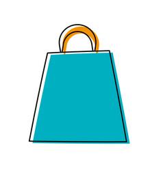 shopping bag isolated cartoon vector image