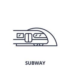 subway line icon concept subway linear vector image