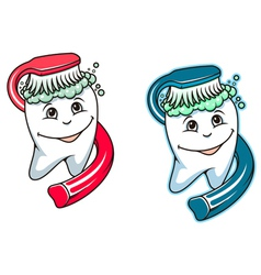Toothbrush and dental paste vector image