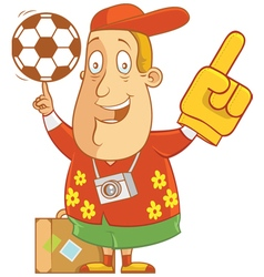 Tourist soccer vector