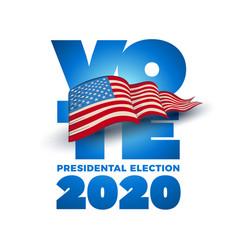 Vote 2020 in usa vector