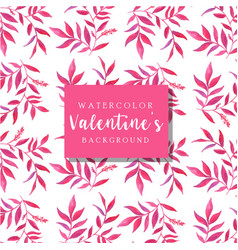 watercolor valentine background vector image