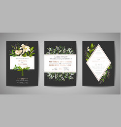 wedding invitation floral invite rsvp card design vector image