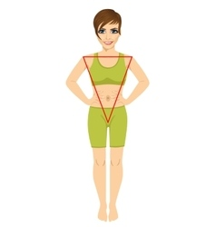 Woman with a triangular body shape vector