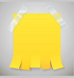 blank yellow advertisement with tear off tabs and vector image