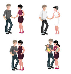 happy family stages vector image vector image
