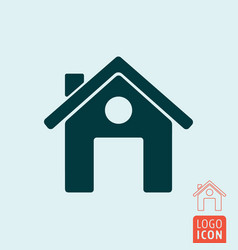home icon isolated vector image vector image