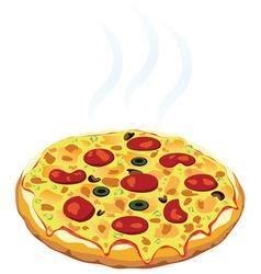 hot italian pizza vector image