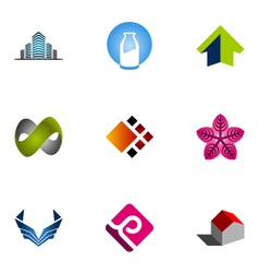 logo design elements set 10 vector image vector image