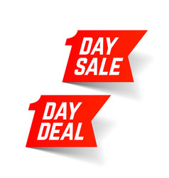 one day sale and deal signs big super sale vector image vector image