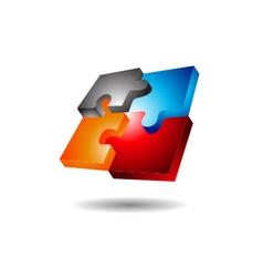 Puzzle Logo vector image vector image