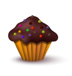 Realistic of cake vector image