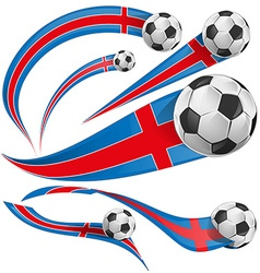 iceland flag with soccer ball vector image