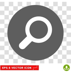 Magnifier View Tool Round Eps Icon vector image vector image