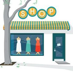 Shop Exterior vector image vector image