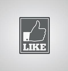 Social like icon vector