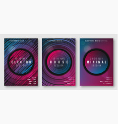 abstract geometric electronic music posters vector image