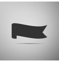 Banner ribbon flat icon on grey background vector image