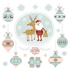 Christmas graphic elements vector image vector image