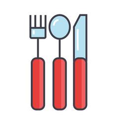 cutlery concept line icon editable stroke vector image