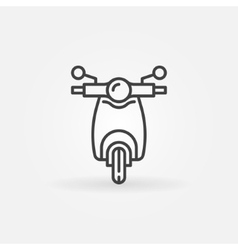 Scooter linear icon vector image vector image