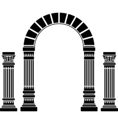fantasy arch and columns stencil first variant vector image vector image