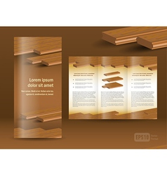 flooring plank brochure design template folder vector image vector image
