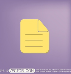 page of the document vector image
