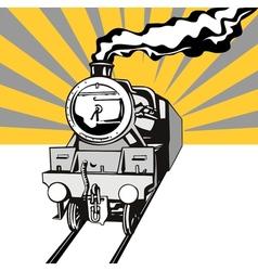 Vintage Train Retro vector image vector image