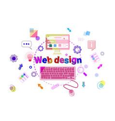 web design concept creative process software vector image